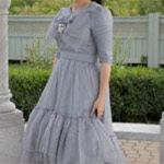 Bluish Grey Evening Gown